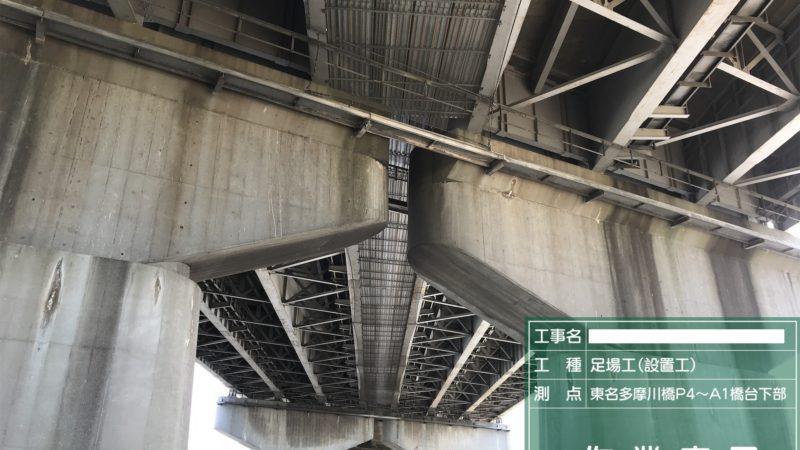 東名高速道路 多摩川橋 足場仮設